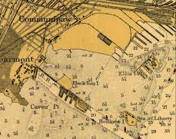 New York On The Map by New York On The Front Line The Black Tom Island Explosion July