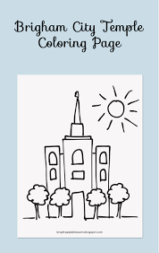 brigham city temple coloring page bright apple blossom