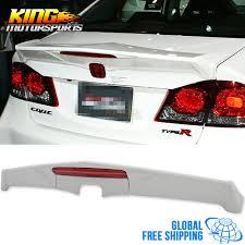 honda civic spoiler brake light fit for 06 11 honda civic 4dr md rear trunk spoiler wing lip frp