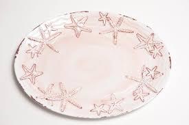 starfish platter pink coral 14 raised starfish platter