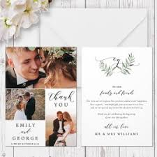 wedding photo thank you cards this listing includes one or two sided 5 x 7 thank you card the