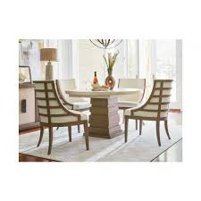 furniture synchronicity round dining table set in horizon