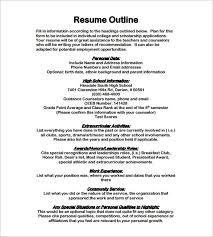 Good Resume Outline Template For A Resume 28 Images Resume Outline Resume Cv Exle