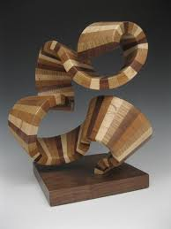 wood sculpture modern abstract wood sculpture