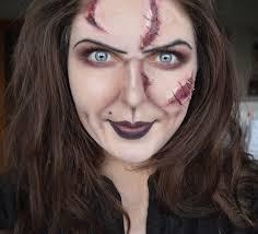 halloween face makeup bride of chucky halloween makeup face paint youtube