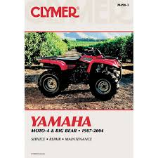 clymer repair manual yamaha moto 4 big bear m490 3 manuals