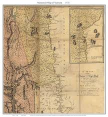 Colonial Map Vermont Colonial Maps