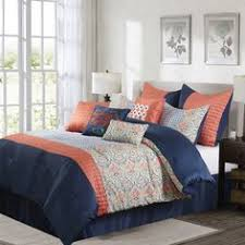 Dahlia 5 Piece Comforter And by Marina Coral 100 Percent 8 Piece Comforter Set New Bedroom