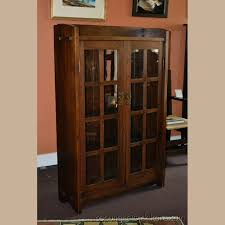 stickley bookcase for sale gustav stickley narrow two door mitered mullion bookcase for sale