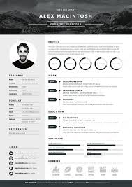 Resume Elegant Resume Templates by Graphic Resume Templates Resume Template Flat Design Free Vector