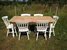 Shabby Chic White Dining Table by Shabby Chic Solid Pine Round Table 4 Bow Back Chairs Pink