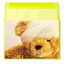 teddy with bandage by marcel schurman get well cards papyrus