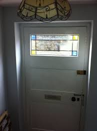 Paint A Front Door Gloss Paint A Front Door And Add Stained Glass