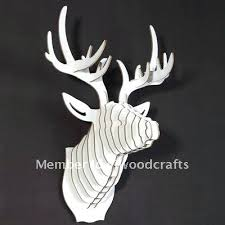 white stag wall decor white wooden deer wall decoration