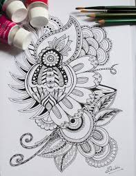 henna coloring pages printable coloring page colouring card zentangle henna