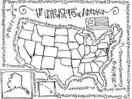 coloring pages united states map kids coloring
