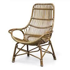 palecek retro rattan high back lounge chair pk 7609 83