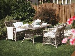 Wicker Patio Dining Chairs by Wicker Patio Dining Set With Bench And Chairs Barletta