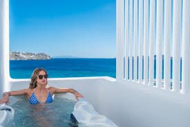inside the signature suite of de light boutique hotel in mykonos