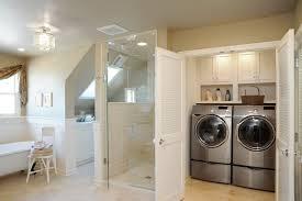 Basement Bathroom Laundry Room Combo Bathroom Laundry Combo Traditional With Crystal Knobs Chrome