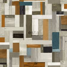 hd non woven wallpaper scrap wood brown and olive green estahome nl