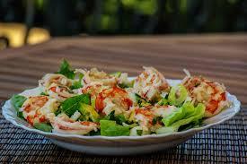 cuisine repas images gratuites aliments crevettes salade fruit de mer