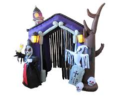 amazon com 8 5 foot halloween inflatable haunted house castle