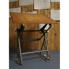 Steel Drafting Table Sautereau Drafting Table In Wood And Steel 1950s Design Market