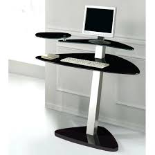 Small Black Computer Desk Black Glass Computer Desk Bethebridge Co