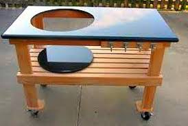 how to build a weber grill table kettle grill work table plans big green egg table makes outdoor
