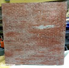 how to create realistic brick walls for your diorama