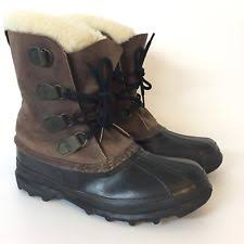 s winter boots canada size 11 sorel big horn s brown leather insulated warm winter