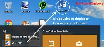 logiciel icone bureau comment ouvrir le logiciel word avec windows coursinfo fr