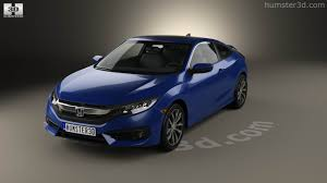 honda civic 2016 coupe 360 view of honda civic coupe 2016 3d model hum3d store