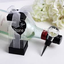 wine stopper wedding favors free shipping personalized creative metal wine bottle
