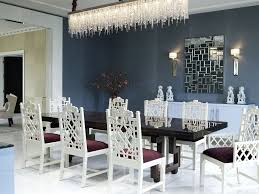 White Armchair Design Ideas Chandelier Lighting Incredible White Tone Dining Room Deco