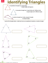 different triangles education com