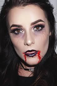 glam grunge vampire halloween makeup