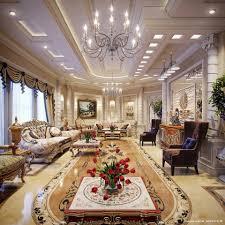 natural brown coffee table hang luxury chandeliers