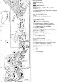 Blank Map Of The Northeast Region by Caledonian Orogen Of East Greenland 70 N U201382 N Geological Map At 1