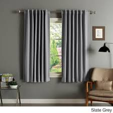 Black Out Curtain Panels Aurora Home Solid Insulated Thermal 63 Inch Blackout Curtain Panel