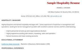 Example Hospitality Resume by For More And Various Hospitality Resume Formats Visit Www Resume