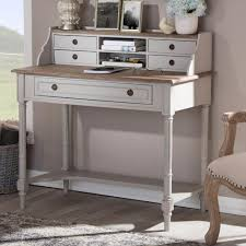 White Writing Desk With Hutch by Safavieh Berkly White And Chrome Desk With Storage Fox2200a The