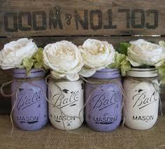 Ball Jar Centerpieces by Set Of 4 Pint Mason Jars Ball Jars Painted Mason Jars Flower