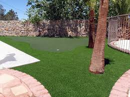 Small Backyard Putting Green Fake Lawn Adelanto California Office Putting Green Backyard Makeover