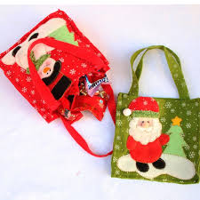 christmas wrapping bags christmas snowman santa claus candy gift bag treat bags kids