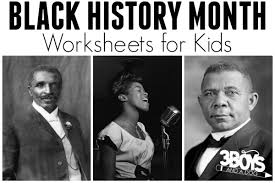 black history month worksheets 3 boys and a dog u2013 3 boys and a dog