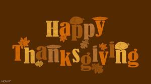 happy thanksgiving text orange brown vector hd