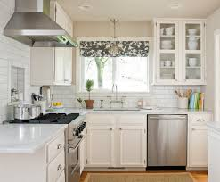 beautiful kitchen curtains wooden solid furniture rounded wall