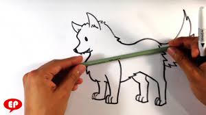 how to draw a wolf cute easy pictures to draw youtube